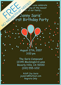 adult birthday invitations Free