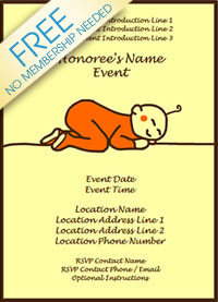 sleepy baby invitation
