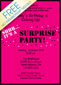 free surprise birthday party invitations koni polycode co