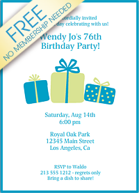 Invitationland Printable Birthday Invitations